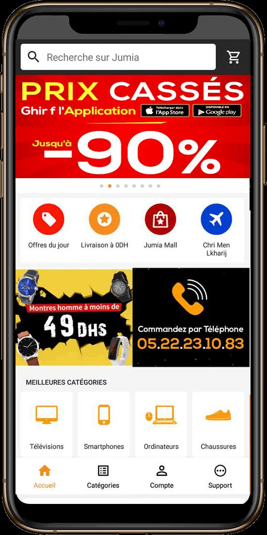 Jumia App mobile Maroc