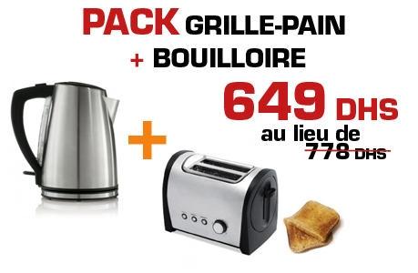 Simeo Pack Grille-pain + Bouilloire