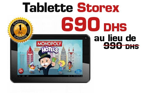 Tablette Storex
