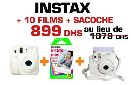 Instax Mini 8 Instant Camera + Film Instax Mini Monopack(10)