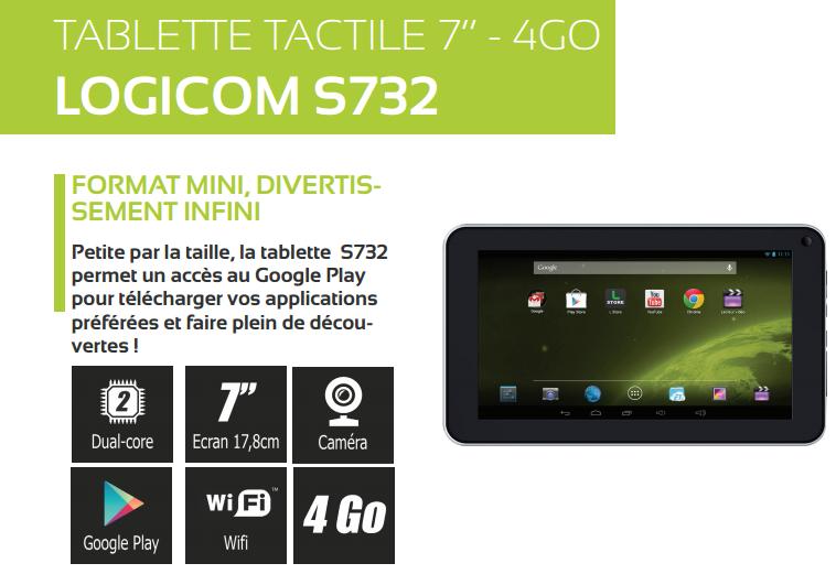 Asus logicom s732 prix au maroc pricyme comparateur - Tablette tactile 7 logicom ...