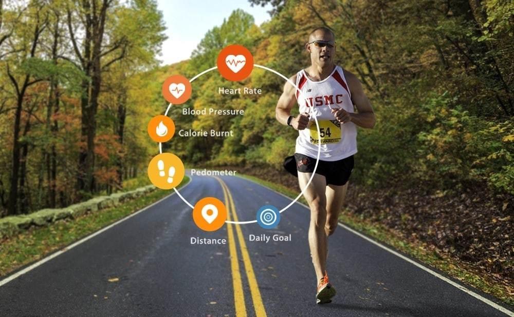 Alfawise Mini 3 Smart Bracelet Heart Rate / Sleep Monitor / Pedometer / Blood Pressure Measurement- Black