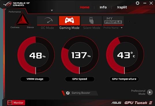 GPU Tweak Dashboard