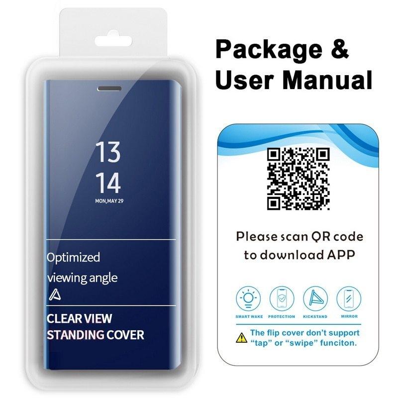 Mirror View Smart Flip Case For Samsung Galaxy A6 A7 A8 A9 2018 J4 J6 S8 S9 Plus J8 A600 J2 Core A5 J3 J5 J7 Neo 2017 S7 Edge