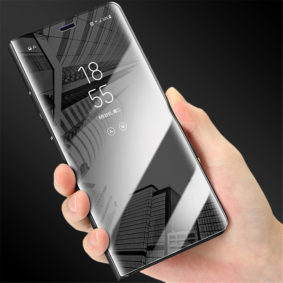 Mirror Flip Case For Samsung s8 s9 plus 01