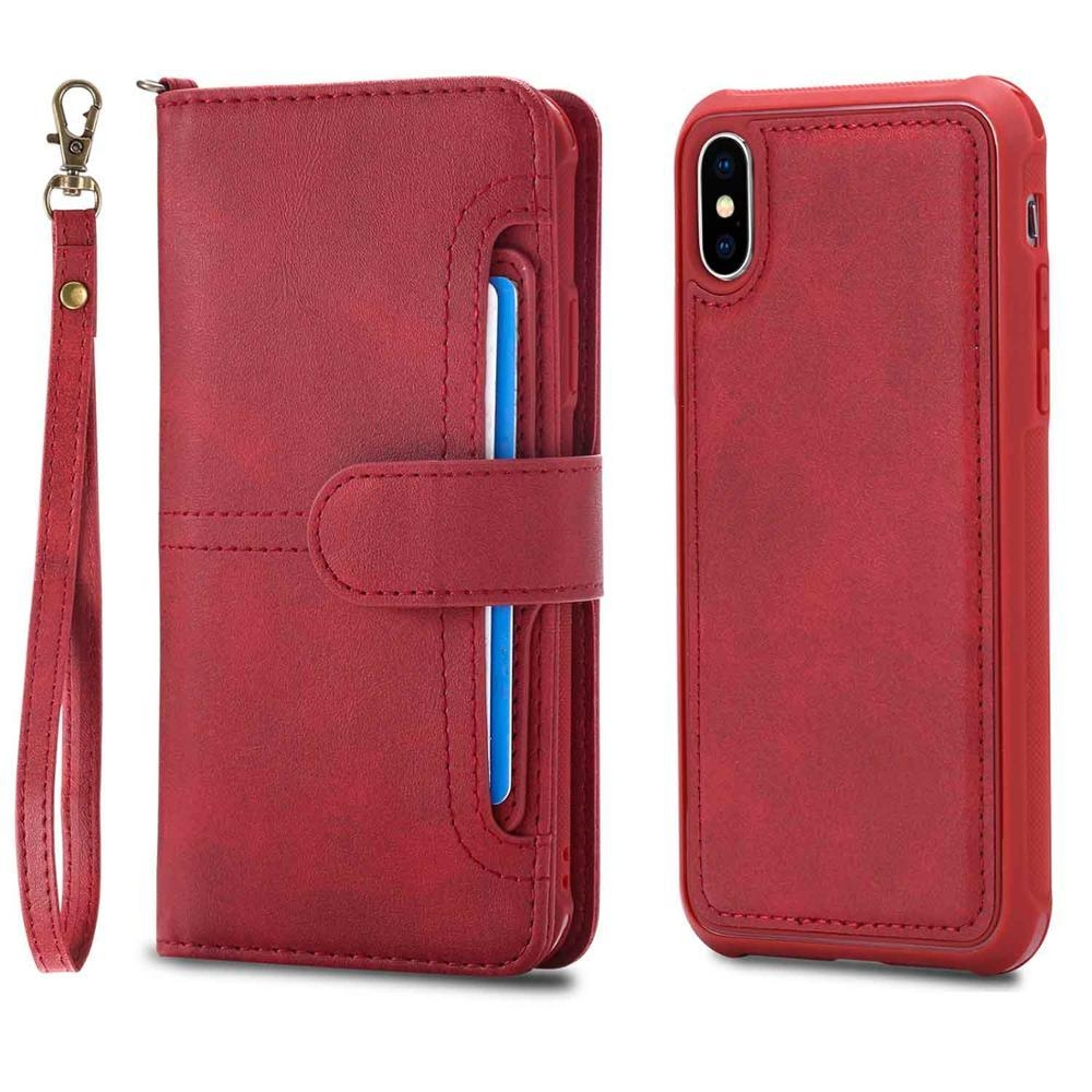iphone x leather case red 20180621