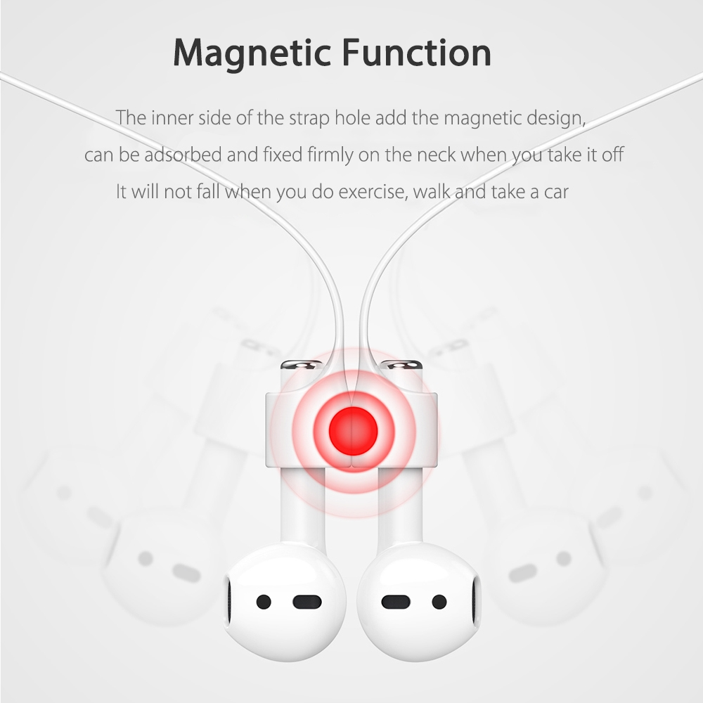Baseus Earphone Strap Magnetic Adsorption Anti-lost Wire Rope Connector Silicone Accessory for AirPods