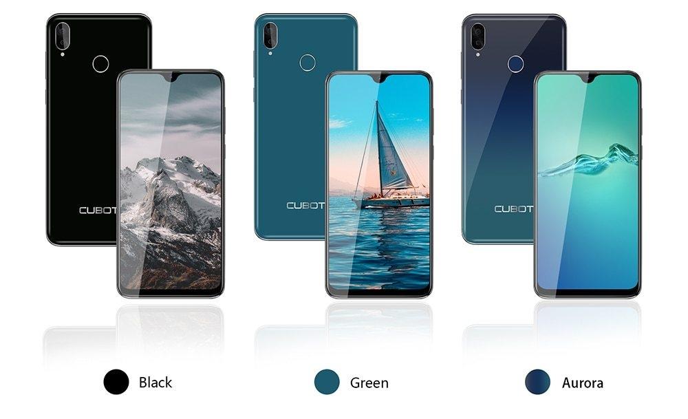 Cubot R15 Pro 6.26-Inch (3Go+32Go) Quad Core Android 9 13MP+16MP Smartphone -Aurora