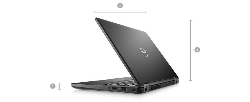 Nouvel ordinateur Latitude5480 - Dimensions et poids