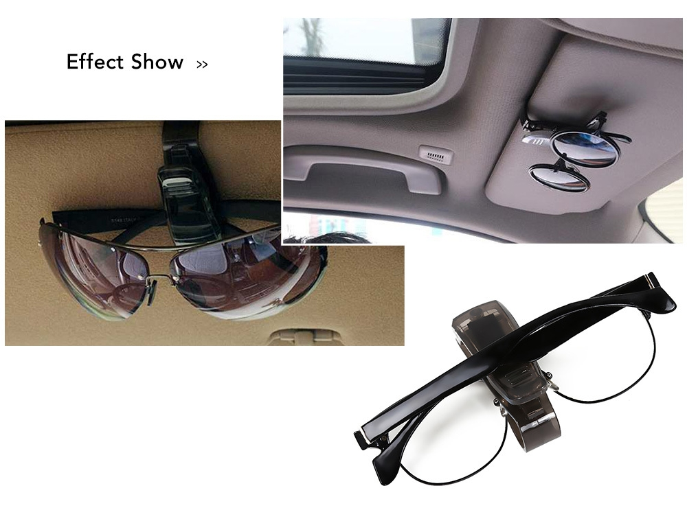 Portable Car Glasses Clip Auto Sun Visor Fastener Holder