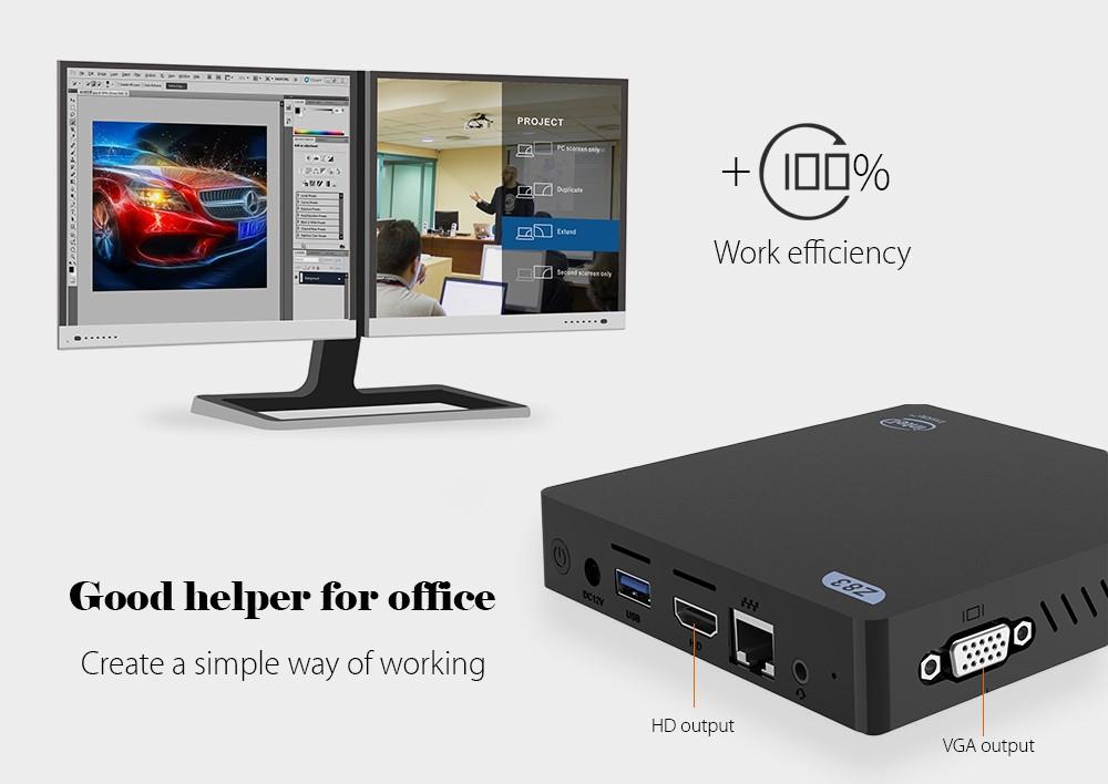 Z83V Mini PC Intel Atom X5-Z8350 CPU Windows 10 OS 64bit