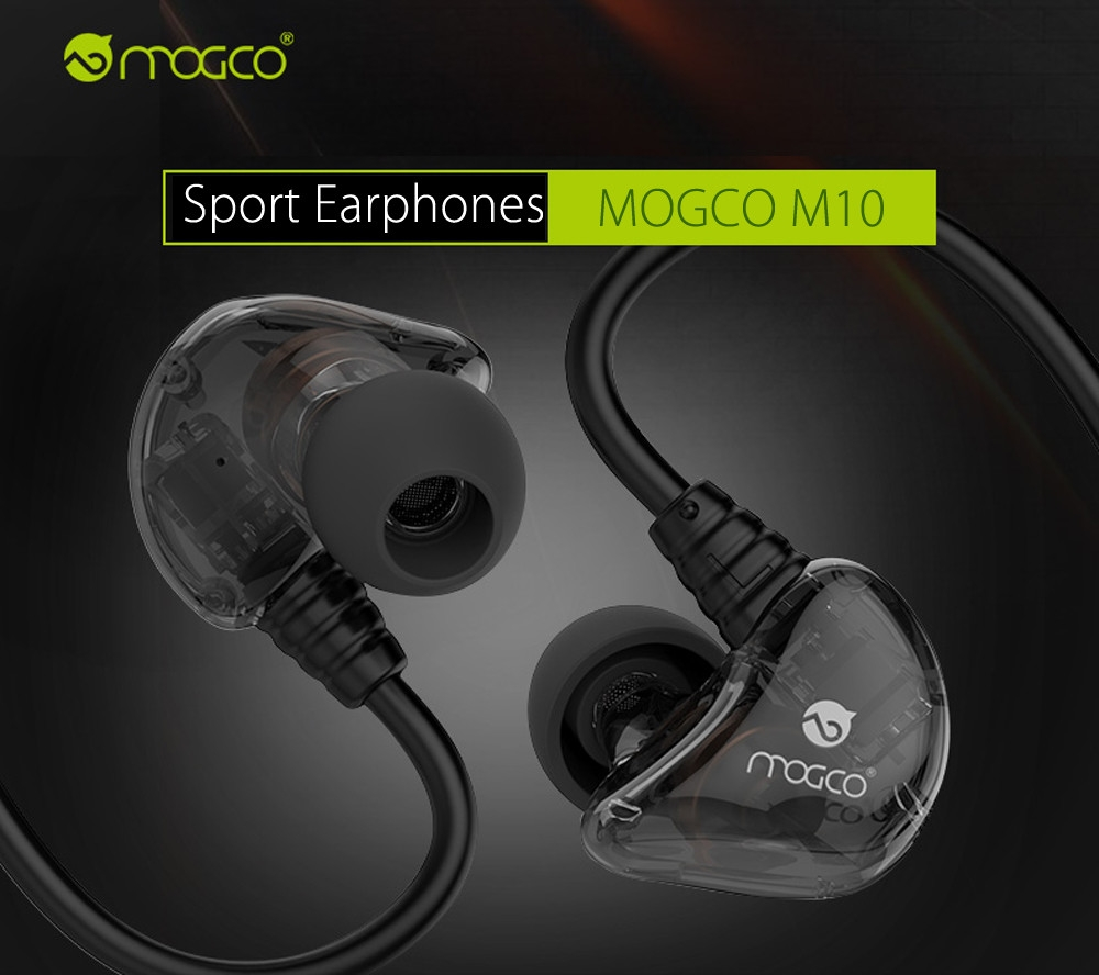 MOGCO M10 HiFi Wired Sport Earphones Headphones