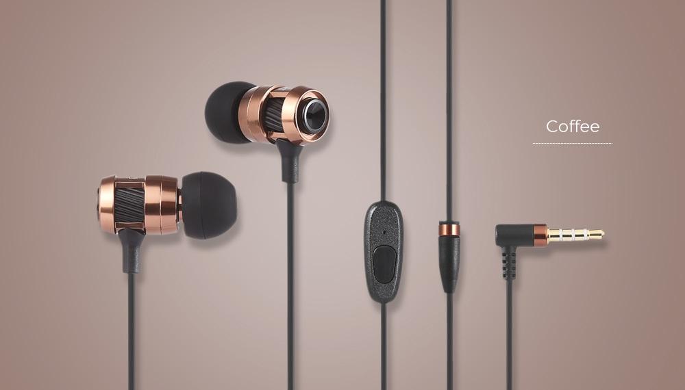 HIIBN HI400 3.5MM Rock Bass Stereo Wired In-ear Music Earphones
