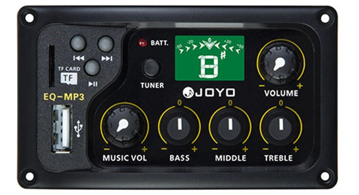 JOYO EQ - MP3 LCD Digital 3 Band EQ Pickup Preamp with Tuning Function