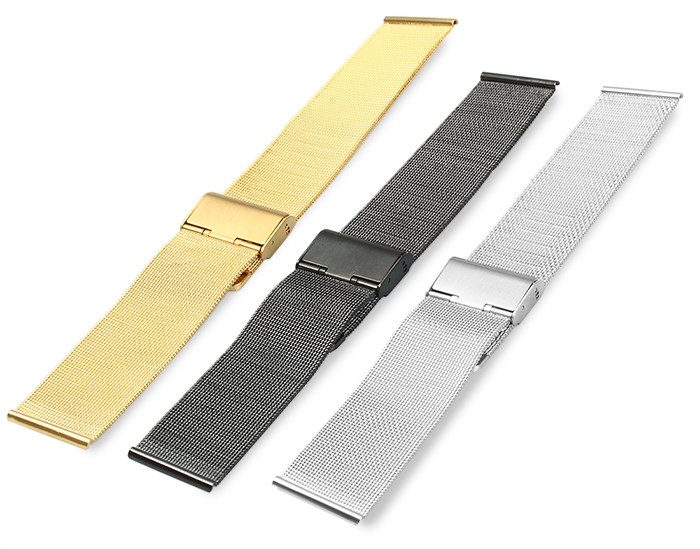 18mm Stainless Steel Mesh Bracelet Watch Band Replacement Strap for Men Women