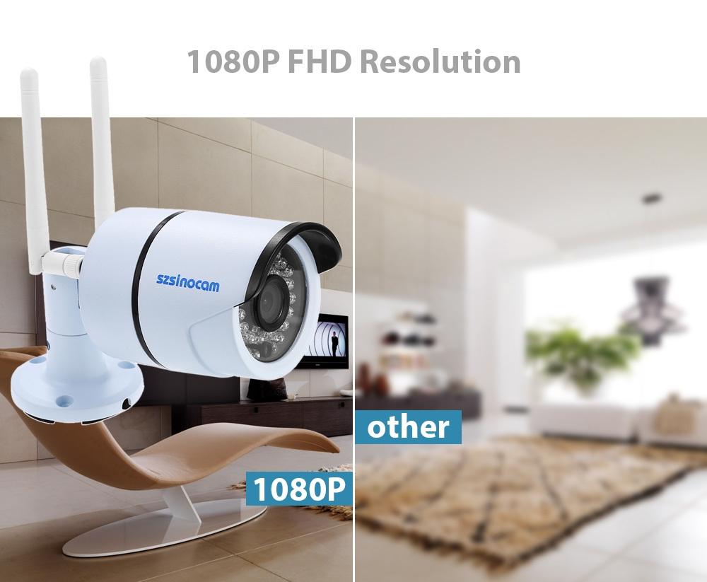 Szsinocam SZ - IPC - 7032CSW2.0MP WiFi IP Camera Security System 1080P Motion Detection Waterproof