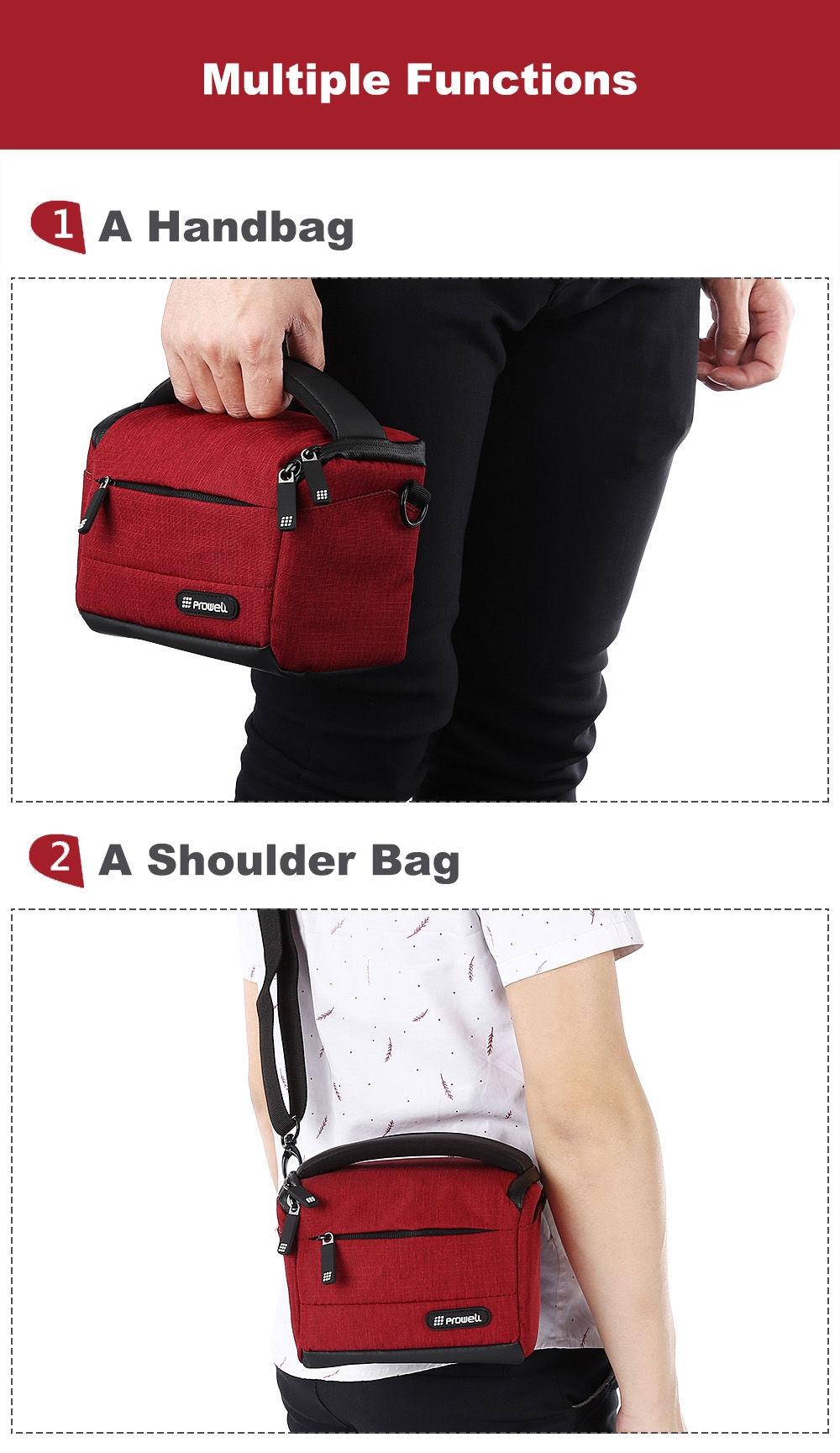 PROWELL DC22009 DSLR Camera Photography Handbag Shoulder Bag
