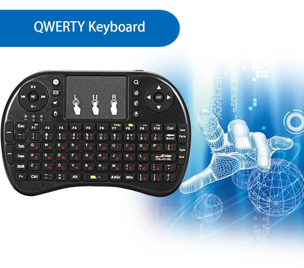 iPazzPort KP - 810 - 21F Multifunction Portable 2.4GHz Wireless QWERTY Keyboard with Touchpad Mouse
