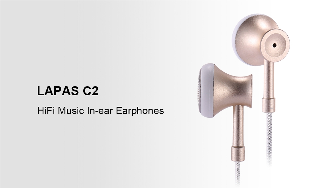 LAPAS C2 HiFi Music In-ear Earphones On-cord Control Support Hands-free Calls