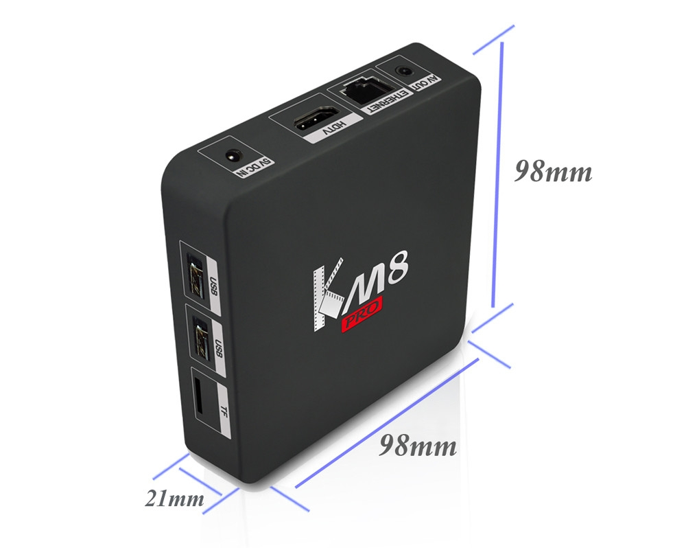 KM8 Pro Smart TV Box with Amlogic S912 Octa Core CPU Supporting Bluetooth 4.0 Dual Band WiFi