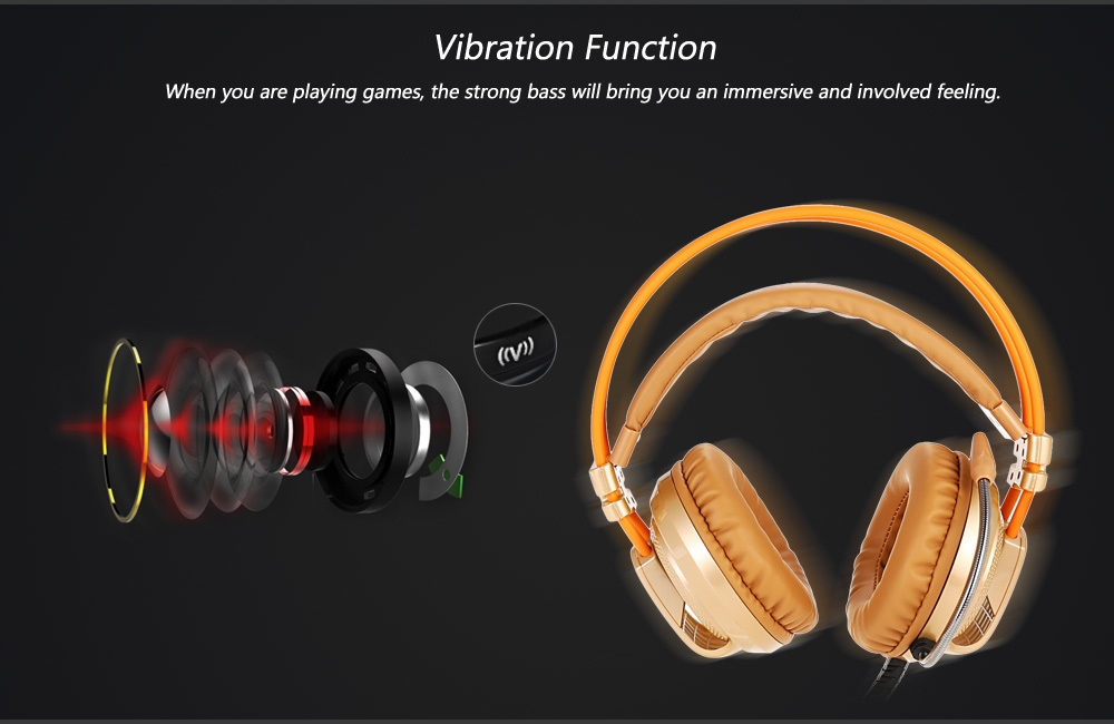 XIBERIA V10 Over-ear Gaming Headset with Vibration Function