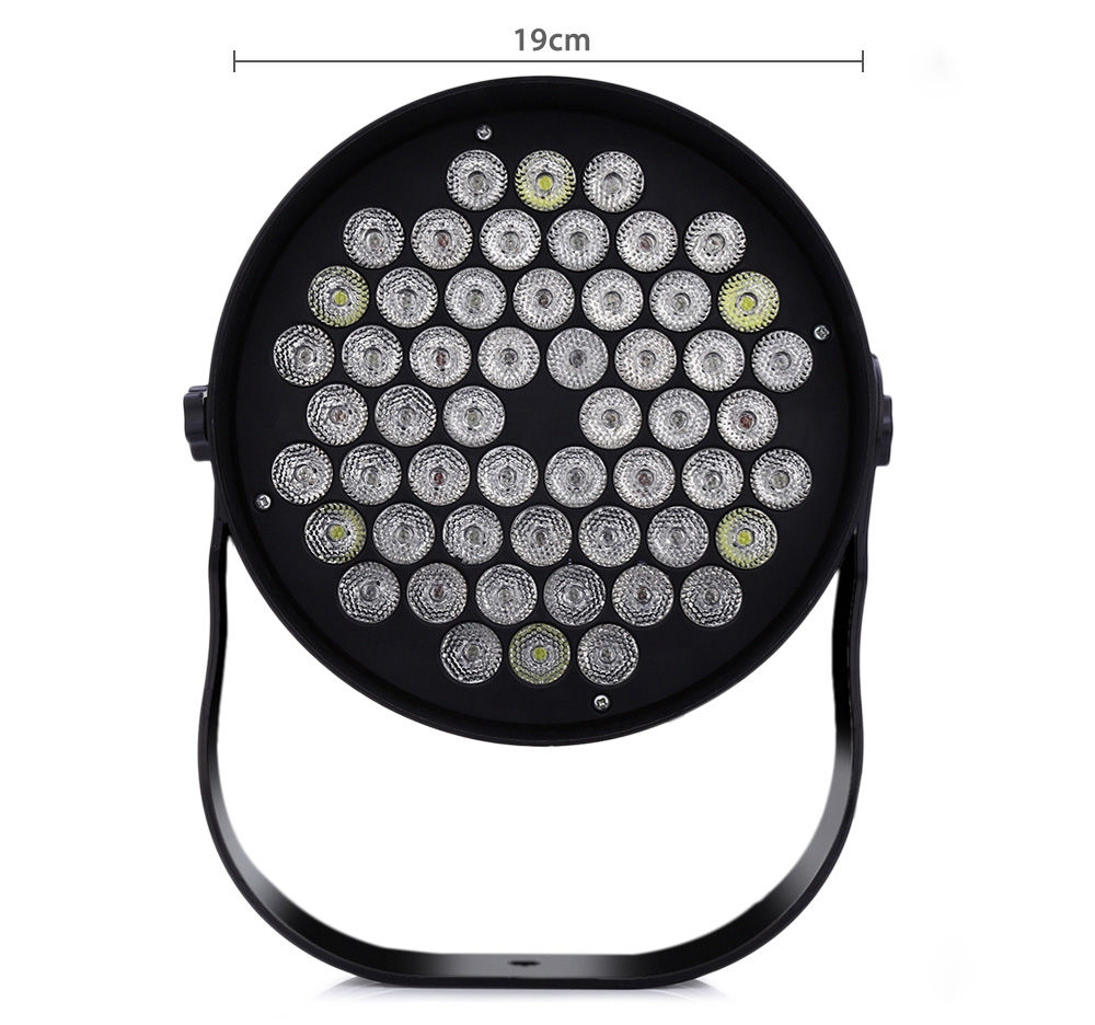 AC 90 - 240V 54 x 1W RGB LED Flat Par Light Stage Lighting Projector Lamp for Party