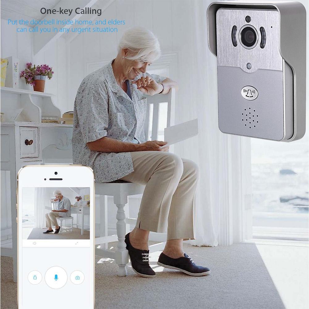 eBELL ATZ - DBV01P - 433MHz Smart IP Doorbell 1.0MP 720P WiFi Camera Motion Detection Indoor Bell