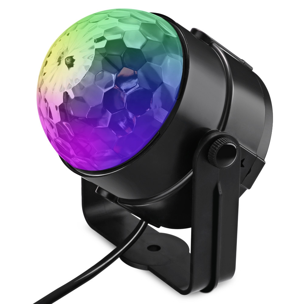 Lightme LED Stage Lamp Rotating Transparent Ball RGB Disco Light for Club Party