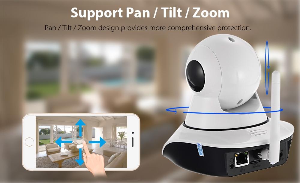 720P Pan Tilt 1.0MPWireless IP Camera85 Degree FOV Night Vision IR-cut