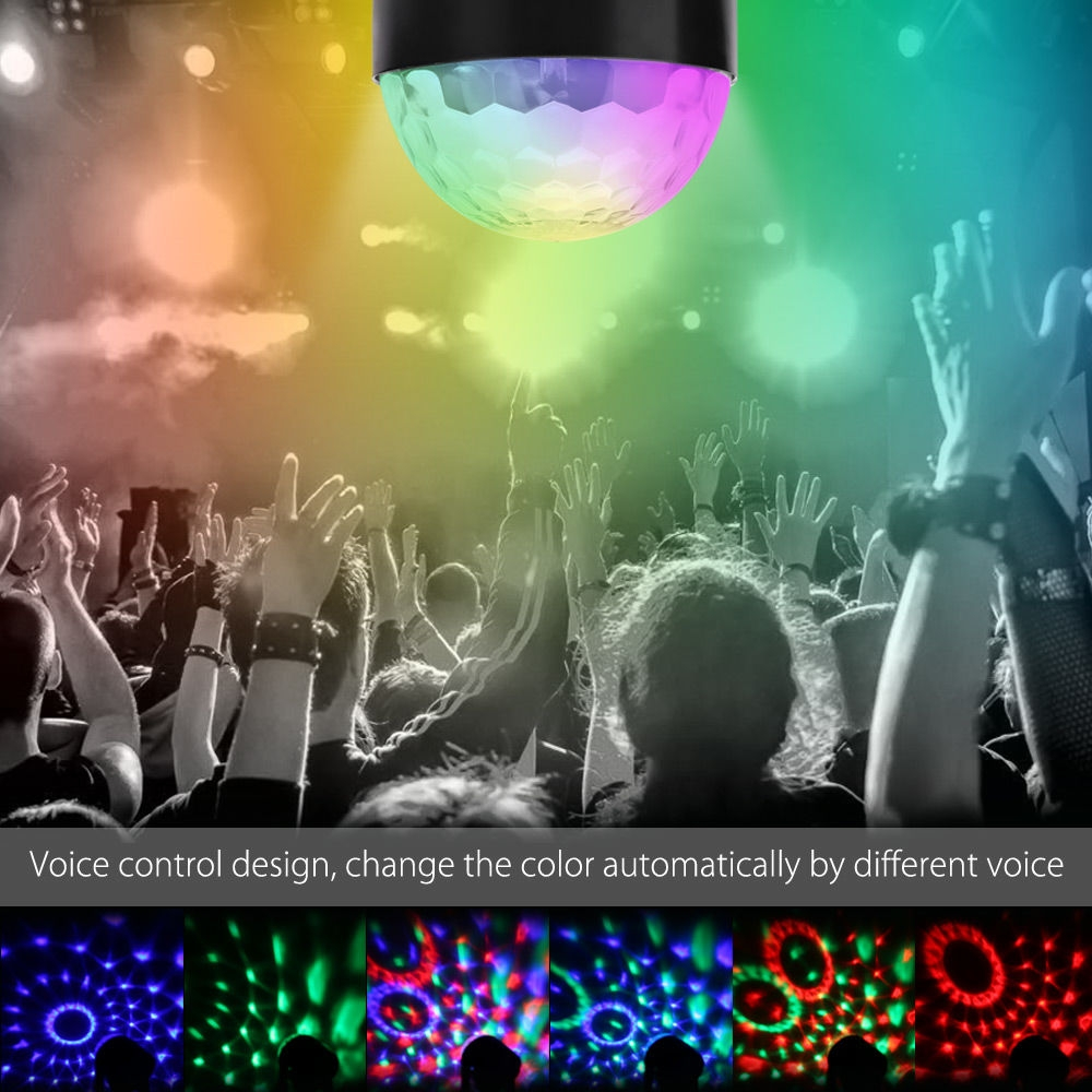 Lightme LED Stage Lamp Rotating Transparent Ball RGB Disco Light for Party