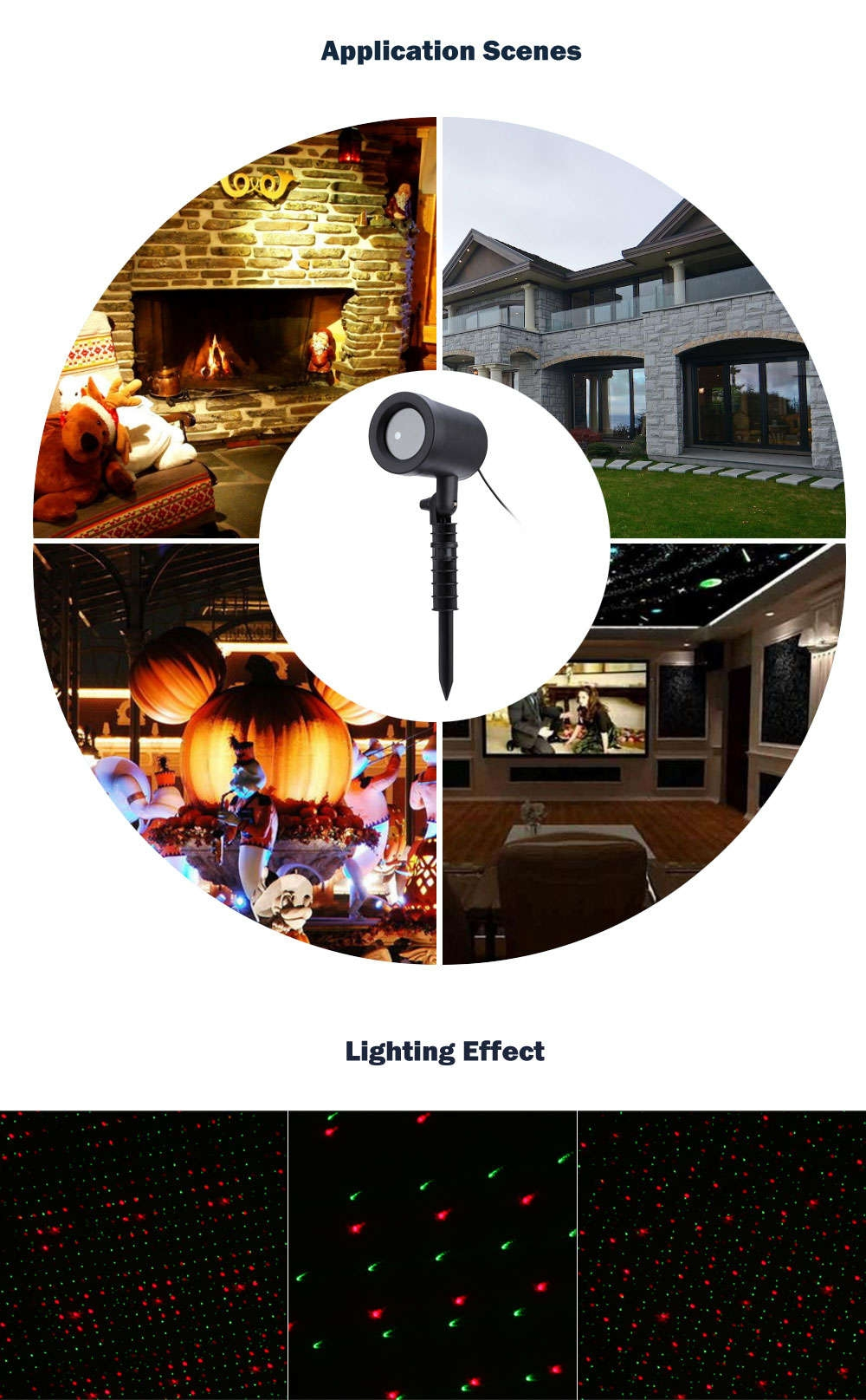 Outdoor Lawn Light Sky Laser Spotlight for Christmas Party Decorations