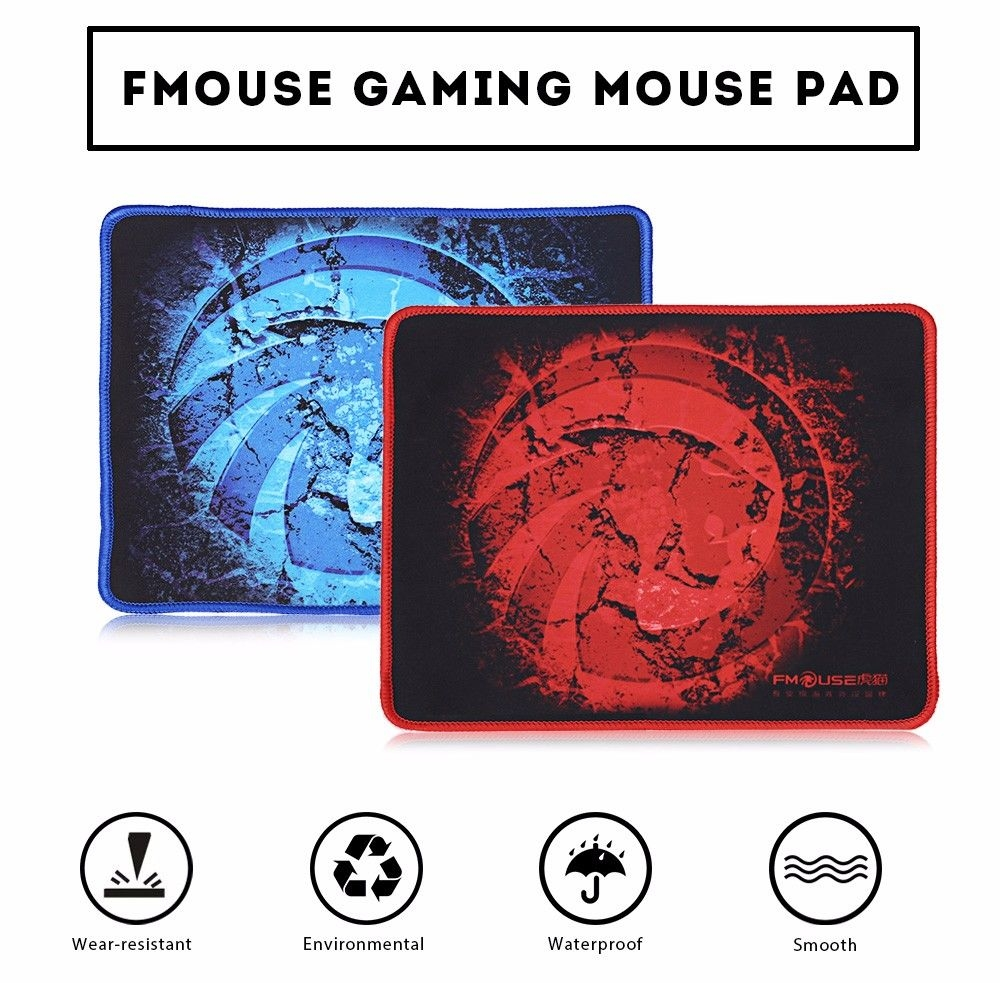 FMOUSE Gaming Mouse Pad Anti-skid Backing Stitched Edges