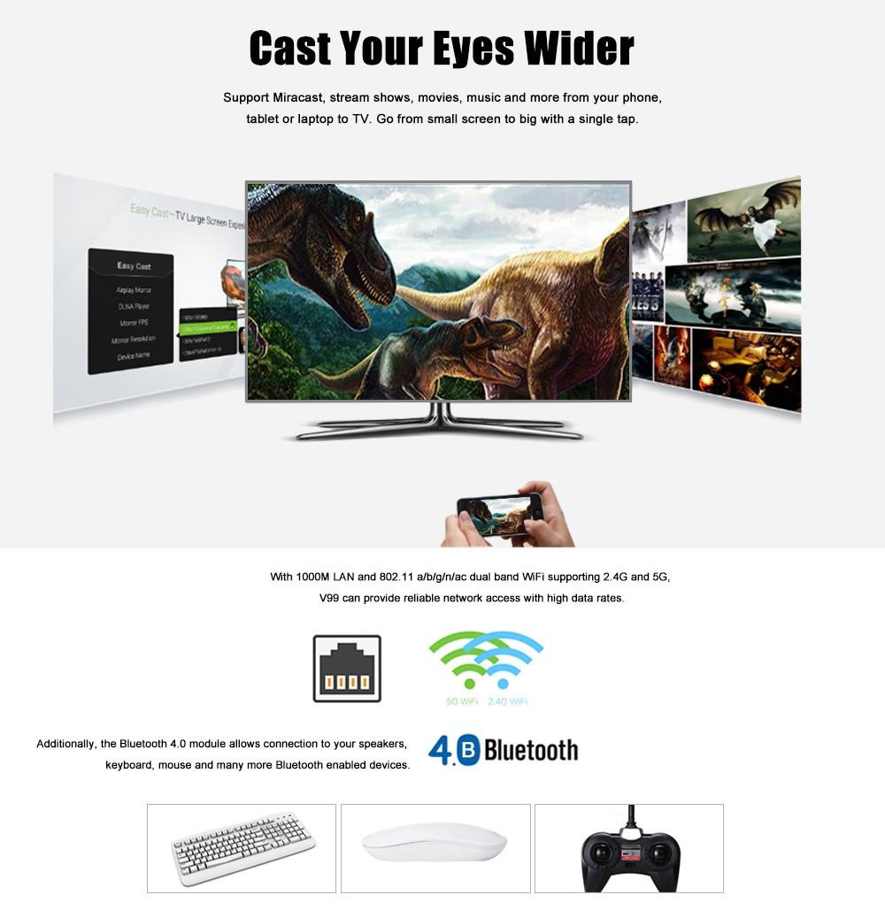 SCISHION V99 Star TV Box Rockchip 3368 Octa Core Android 5.1 Bluetooth 4.0 Dual Band WiFi