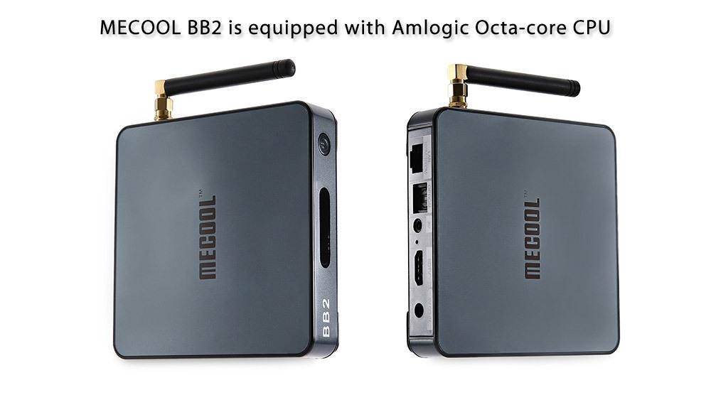 MECOOL BB2 Set-top Box Amlogic S912 Octa Core 4K x 2K H.265 Decoding 64 Bit Android 6.0 2.4G + 5G Dual Band WiFi Bluetooth 4.0