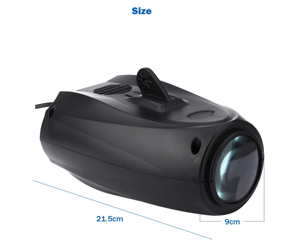 AC 90 - 240V 10W 64 LEDs RGBW Pattern Stage Light Auto Voice-activated Projector Lighting for DJ Party Wedding Club