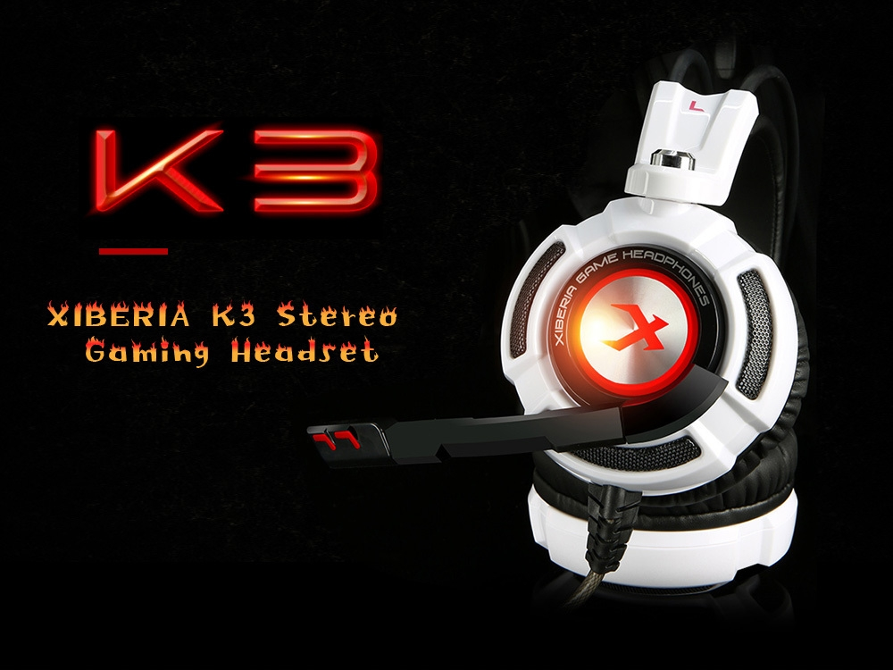 XIBERIA K3 Over-ear Stereo Gaming Headset USB PC Headphones with LED Lights