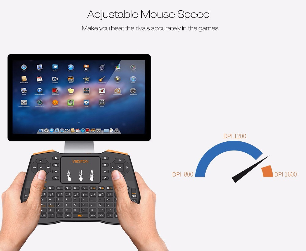 VIBOTON i8 Plus 2.4GHz Wireless Keyboard with Touchpad
