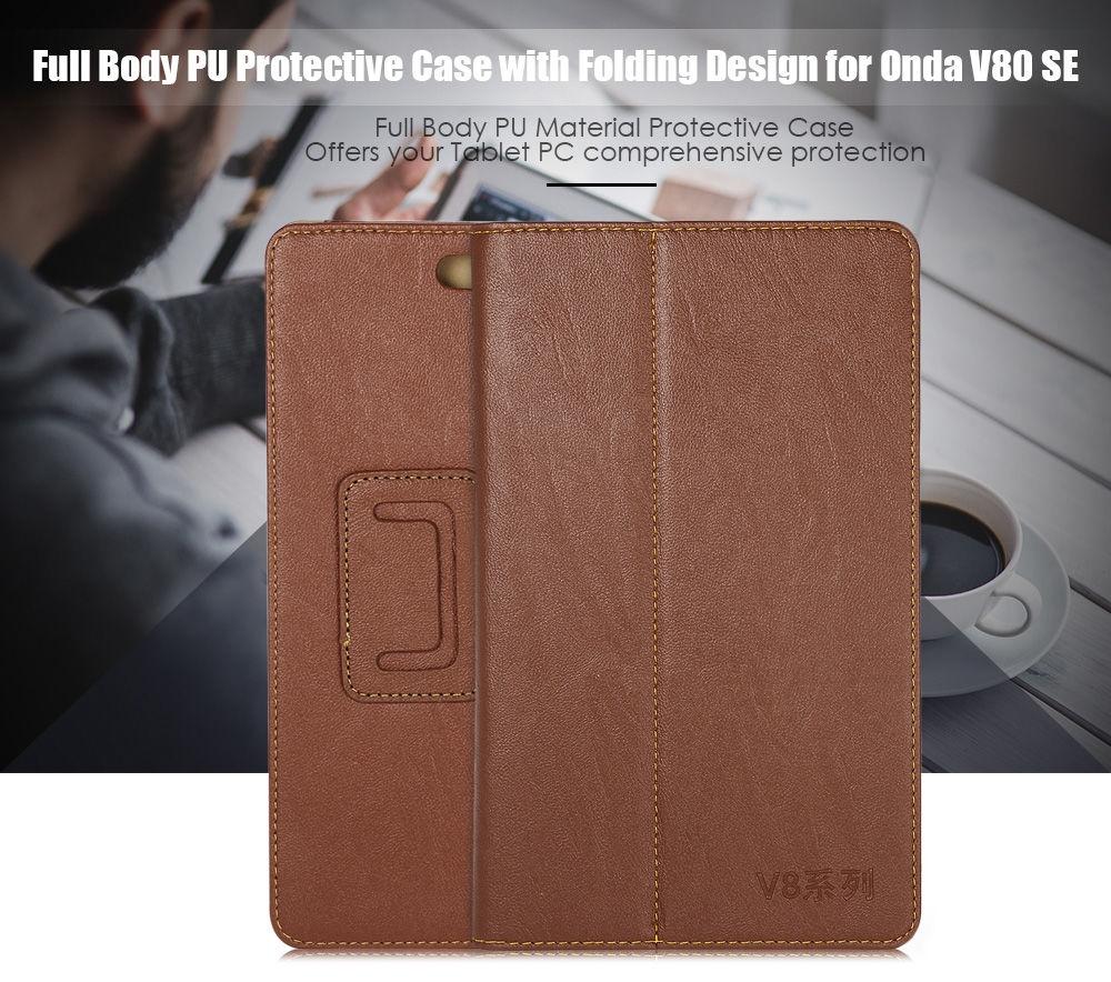 PU Protective Case Full Body Folding Stand Design for Onda V80 SE
