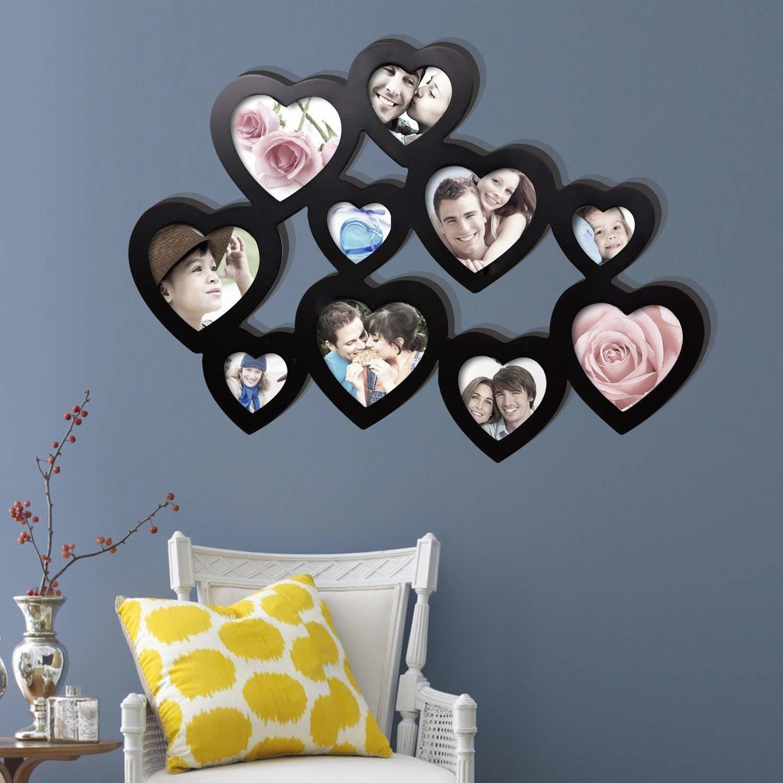 Image Pour Mettre Dans Un Cadre generic les cœurs cadre photo en bois un cadeau parfait pour