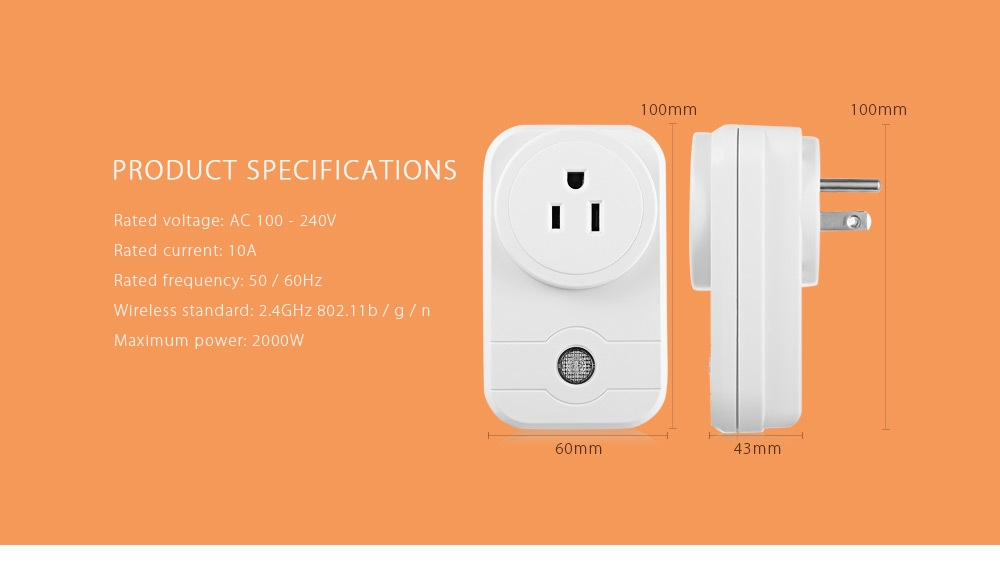 LINGAN SWA1 Wireless Remote Control Smart Socket Home Supply