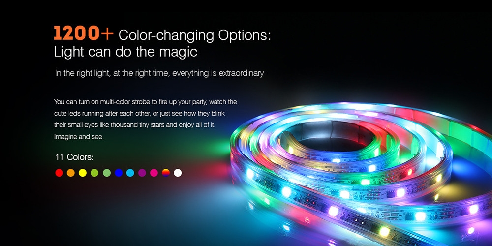 zanflare S2 Indoor 2m Multicolor LED Lighting Strip