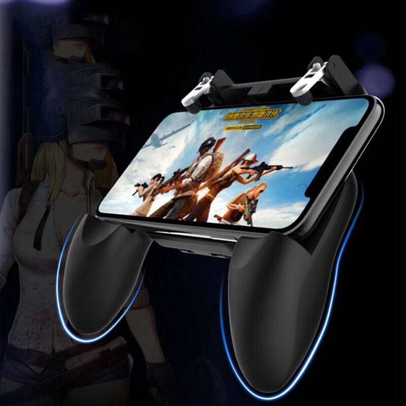 2018 newest W10 Game Handle Sensitive Shoot Aim Buttons PUBG Mobile Game Joystick