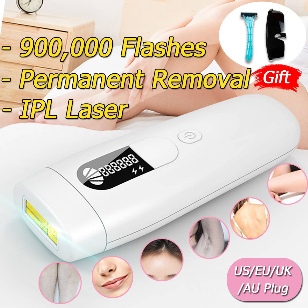 Generic Ipl Laser Permanent Hair Removal Machine Painless Body
