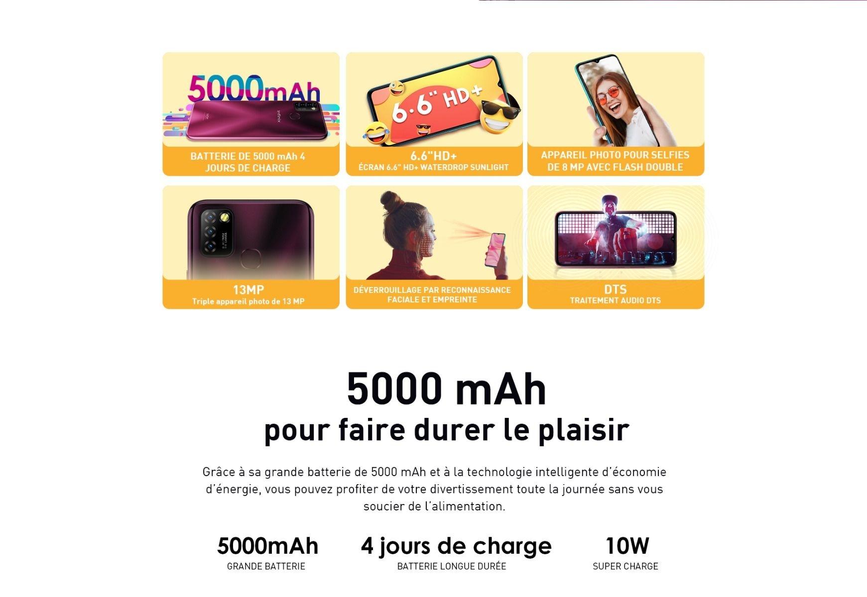 Infinix HOT 10 Lite (3Go, 64Go) prix maroc