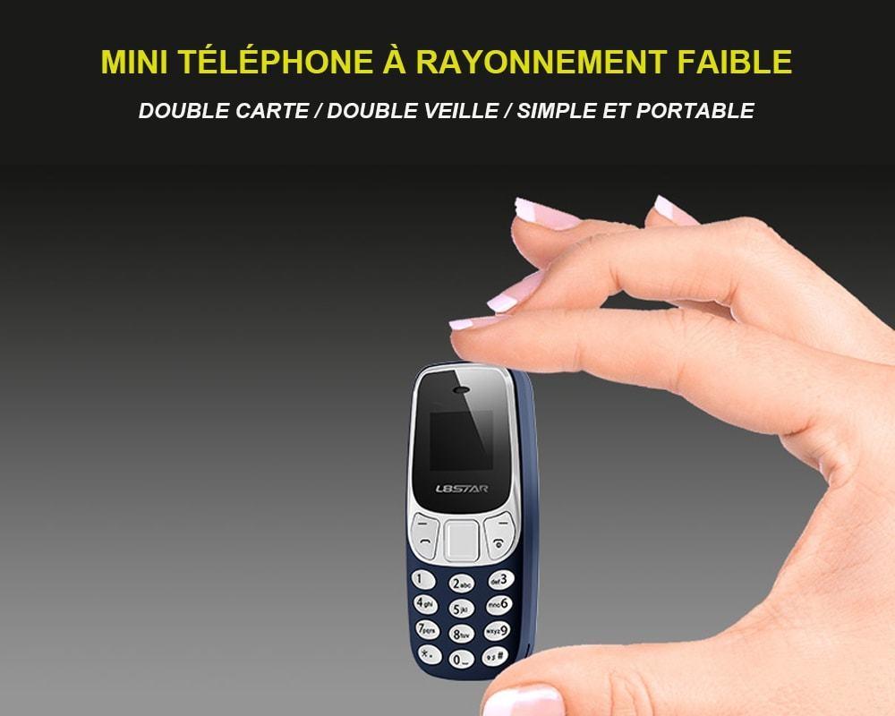 L8STAR BM10 Mini Téléphone Débloqué à Quadri-Bande - Gris