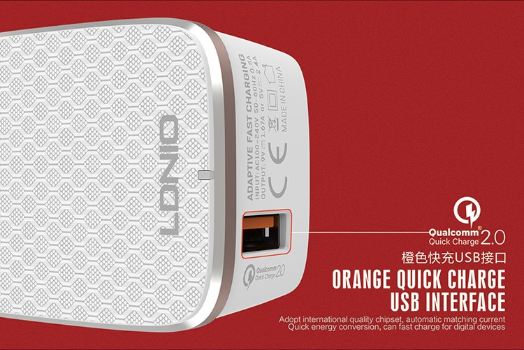 LDNIO charge rapide QC 2.0 chargeur mural USB