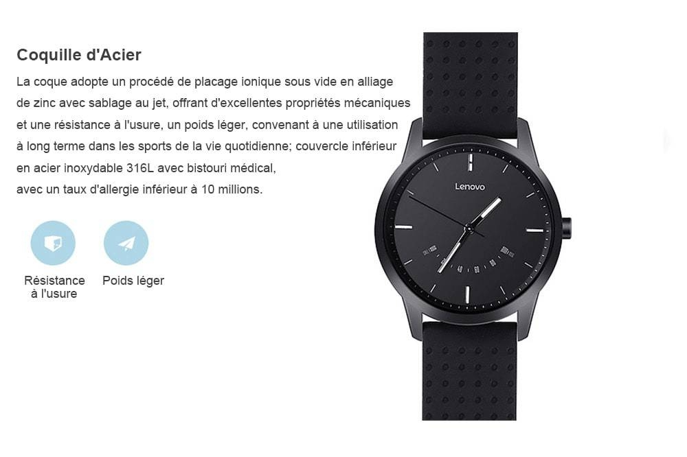 Lenovo Watch 9 Montre-Bracelet- Noir