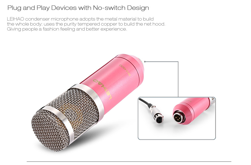 LEIHAO BM - 800 Professional Condenser Microphone Studio Broadcasting Recording