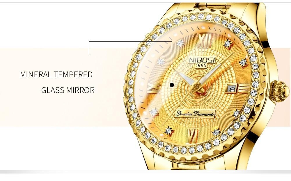 NIBOSI Gold Watch Women 2018 Luxury Brand Women Watches Waterproof Fashion Dress Diamond Quartz Brand Lady Wrist Watches Saat    (7)