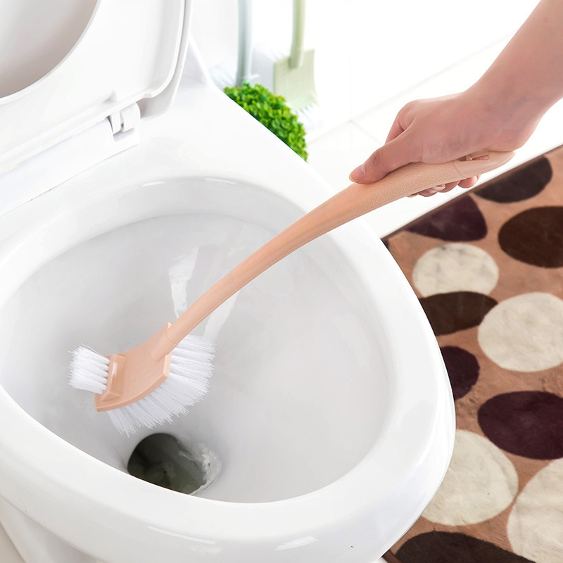 Toilet Brush Long Handle PP Double Faced Useful Tool